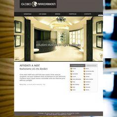 Sito Web realizzato dal nostro Studio per Globo Arredamenti