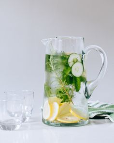 20 Infused Water #recipes: Lemon Herb