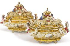 A pair of Meissen armorial reticulated tureens and covers<br>last quarter 19th century | lot | Sotheby's