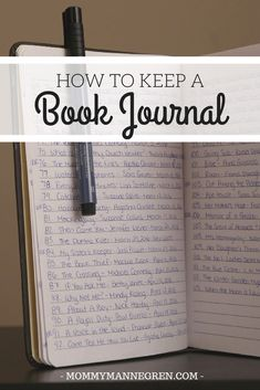 Keeping A Book Journal – mommy mannegren Journal Prompts, Journal Pages, Journal Ideas, Journal Art, Journal Entries, Books And Tea, Commonplace Book, Book Organization, Organizing
