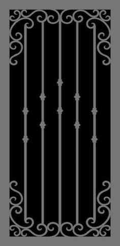 Each Hand Forged Series security door is produced in our Phoenix, AZ warehouse, and personally installed by the experienced installers of Steel Shield. Wrought Iron Security Doors, Wrought Iron Doors, Cottage Front Doors, Iron Gate Design, Electric Gates, Grill Design, Steel Doors, Window Coverings, Door Design