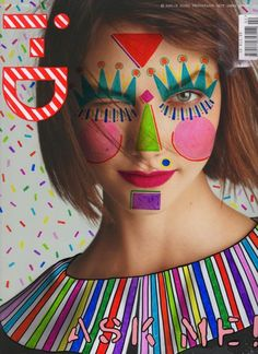 Ana Strumpf a Brazilian designer based in New York has been re visiting magazine covers with sharpie pens and creating dynamic, colourful  c...