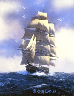 Ship art of sailing tall ship or pirate ship on the by lewfoster