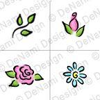 PF05 Rosevine Flowers stamp set  #DeNamiParty