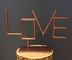 Love & copper rebar By Yanick Bluteau – Typical Miracle Welding Art Projects, Welding Crafts, Metal Art Projects, Welding Ideas, Welded Art, Welding Shop, Scrap Metal Art, Wood Steel, Crafts To Make And Sell