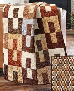 Value Study quilt kit uses pre-cut strips & yields a 54 x 84 quilt made with 6 x 12 blocks