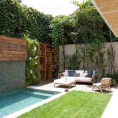 cute small outdoor space.