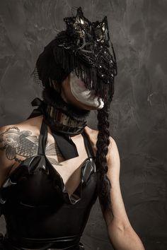 Chat Headpiece Headpiece, Goth, Collection, Style, Fashion, Gothic, Swag, Moda, Headdress