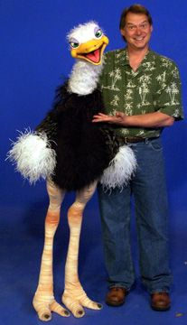 Ostrich Puppets by Axtell Expressions for the entertainment world. Theme Parks, Ventriloquists, Magicians, Video and Film Producers, Minstries and Educators all benefit from Axtell Products Bird Puppet, Puppet Toys, Marionette Puppet, Puppet Show, Glove Puppets, Sock Puppets, Hand Puppets, Centaur Costume, Ventriloquist Puppets