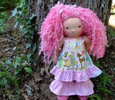 Phoebe by Dragonfly's Hollow, via Flickr These lil people are so wonderfully made with love. I will get one of them for Addi some day