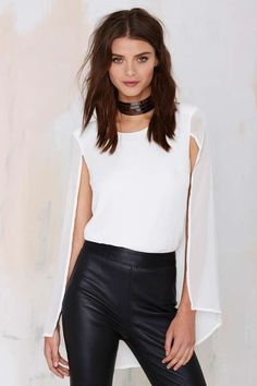 Nasty Gal Monica Top - Ivory - Shirts + Blouses | Clothes | All