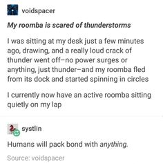 Tumblr Thread: Humans Will Pack Bond With Anything