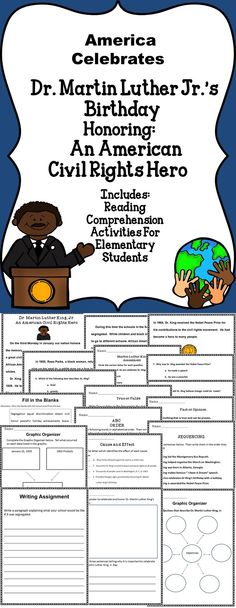 Martin Luther King Jr.- This activity book includes literacy activities all about Martin Luther King Jr.-