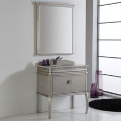 Shop for Fresca Platinum London 32 Inch Antique Silver Bathroom Vanity with Swarovski Handles. Get free delivery at Overstock.com - Your Online Furniture Outlet Store! Get 5% in rewards with Club O!