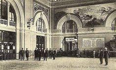 Verona - interno della vecchia stazione di Porta Nuova.