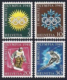 Switzerland #b170-b173,mnh.michel 492-495. #olympics st.moritz-1948.ice #hockey,s,  View more on the LINK: http://www.zeppy.io/product/gb/2/311662393186/