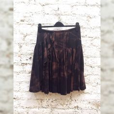 Skirt Gypsy Boho Style Tie Dye Layered Below the Knee Skirt to fit UK Size 8 or US size 4 Autumn Fashion
