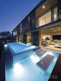 Love this. Seaside home in South Africa uses aluminium panels to completely open up the home to the outside. Gorgeous!