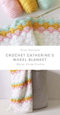 Free Pattern - Classic Crochet Catherine's Wheel Blanket Hi there! It's Hannah. A few months ago my mom started experimenting with the Catherine's Wheel Stitch and as she… Afghan Crochet Patterns, Crochet Stitches, Knitting Patterns, Crochet Afghans, Amigurumi Patterns, Free Knitting, Easy Knitting Projects, Crochet Projects, Cute Crochet