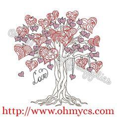 552b13c9fe40 Henna Heart Tree Embroidery Design Henna Heart