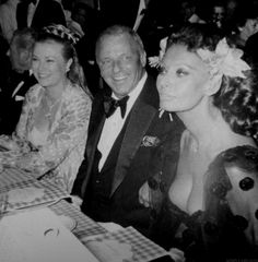 Princess Grace of Monaco, Frank Sinatra, and Sophia Loren at Monaco's Red Cross Ball in 1979