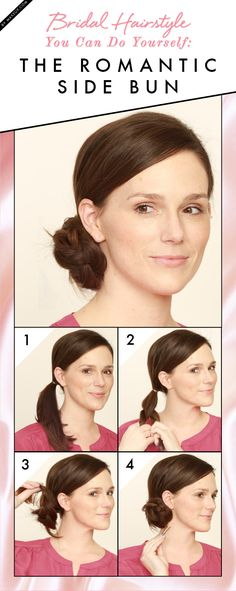 Bridal Hairstyle You Can Do on Yourself: The Romantic Side Bun