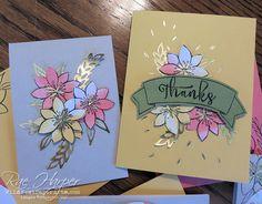 Paper Pumpkin Kit October 2015 Blissful Bouquet.... Alternate Samples  #paperpumpkin #papercraft