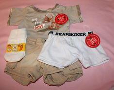 Build a Bear Boy Camo Knit Cotton BEARboxer Boxer Underwear EUC