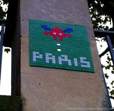 Invader street art in Paris, taken on my honeymoon