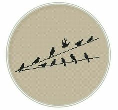 Birds Cross stitch pattern Counted cross by MagicCrossStitch Cross Stitch Tree, Cross Stitch Bookmarks, Cross Stitch Fabric, Mini Cross Stitch, Cross Stitch Animals, Modern Cross Stitch, Cross Stitching, Cross Stitch Embroidery, Funny Cross Stitch Patterns