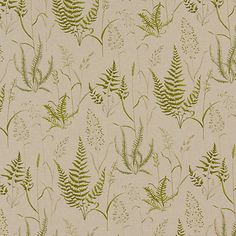 Buy Grey John Lewis Fern Field Furnishing Fabric from our View All Fabrics range at John Lewis & Partners. Free Delivery on orders over Cotton Curtains, Lined Curtains, Curtain Fabric, Curtain Lining, Kitchen Blinds, Made To Measure Curtains, Green Pattern, Fabric Online, Ferns