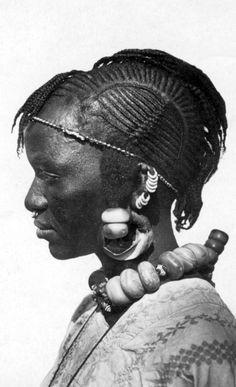 "Africa | ""Type Toucoulerus - Hte Volta Femme"" AOF | Vintage postcard"