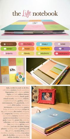 The Life Notebook - This is where I'm going with my filofax Planner Organization, Storage Organization, Project Life Organization, Stationary Organization, Medicine Organization, Back To School Organization, Home Organisation, Office Storage, Storage Ideas