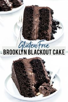 This delicious Gluten Free Chocolate Blackout Cake from What the Fork is made with layers of chocolate cake, filled with homemade chocolate pudding, and finished with chocolate frosting and chocolate cake crumbs. It's a sinfully delicious cake that's perfect for chocolate lovers. This recipe is semi-homemade and starts with a gluten free chocolate box cake mix (King Arthur Gluten Free Cake Mix). This recipe is sponsored by @kingarthurbaking. This recipe is a wonderful gluten-free favorite! Homemade Chocolate Pudding, Chocolate Pudding Cake, Gluten Free Chocolate Cake, Chocolate Cake Mixes, Chocolate Desserts, Chocolate Frosting, Chocolate Lovers, Gluten Free Cupcake Recipe, Gluten Free Desserts