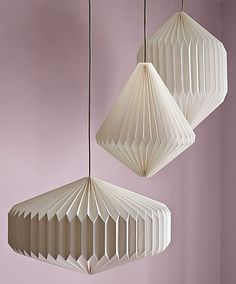 Origami pendant lamps.  The patterns is small, without being too strong, is more elegant.