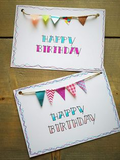 Geburtstags-Karte Handlettering Happy Birthday, Happy Birthday Hand Lettering, Happy Birthday Posters, Handmade Birthday Cards, Diy Birthday, Happy Birthday Card Diy, Diy Postcard, Birthday Letters, Karten Diy