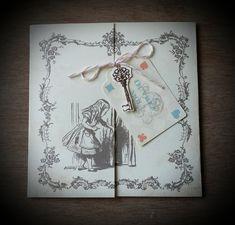 Faire-part de Mariage - Alice au Pays des Merveilles - Création Dessine-moi une étoile