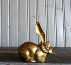 Brass Bunny by Buffalo Winter >> Super cute for my bookshelf.