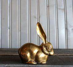 Brass Bunny by Buffalo Winter >> Super cute for my bookshelf.