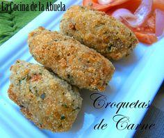 La Cocina de la Abuela: Croquetas de Carne.