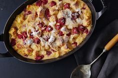 Challah Bread Pudding with Raspberries Recipe