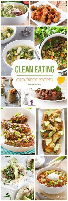 Amazing crockpot recipes for clean eating! Make healthy meals easier by pulling out the trusty slow cooker in the morning.