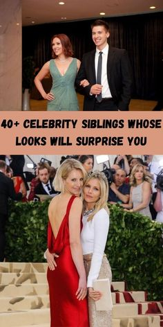 Whether you look identical or don't even pass for relatives, people are still stunned to see what they look like. #40+ #Celebrity #Siblings
