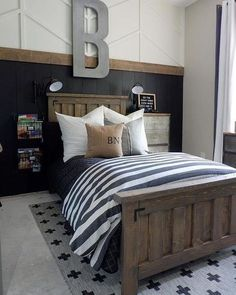 Teenage boy room decor ideas are so cool your son may never want to leave home. Find the best designs … Boy Bedroom Design, Room Makeover, Room, Home, Bedroom Design, Stylish Bedroom, Kids Bedroom, Big Boy Bedrooms, Rustic Bedroom