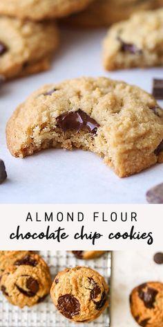 Gluten Free Almond Cookies, Almond Flour Desserts, Almond Flour Cookies, Paleo Cookies, Almond Flour Recipes, Gluten Free Desserts, Banana Almond Flour Muffins, Healthy Vegan Cookies, Chickpea Cookies