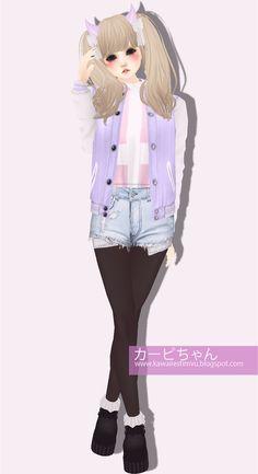 imvu outfit   IMVU Kawaii Pastel Outfit #1 ~ Kawaiiest of IMVU