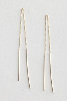 How ridiculously chic are these threaded earrings? Jerry Grant Pull Through Earring, $196