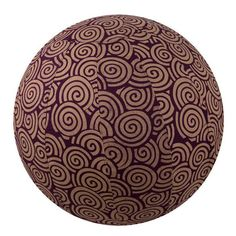 Yoga Ball Cover Size 65 Design Plum Swirl - Global Groove (Y) Birthing Ball, Ball Chair, Swirl Design, Pilates Workout, Cover Size, No Equipment Workout, Fun Workouts, Yoga Fitness, Plum