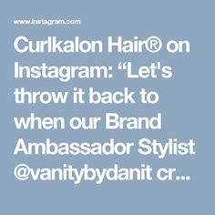 """Curlkalon Hair® on Instagram: """"Let's throw it back to when our Brand Ambassador Stylist @vanitybydanit cro-slayed our Curl Expert Officer's (CEO) @shavone_riggins with…"""" • Instagram"""