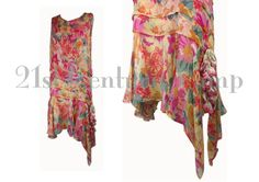 1920s Flapper dress. Romantic and colourful by 21stCenturyVamp